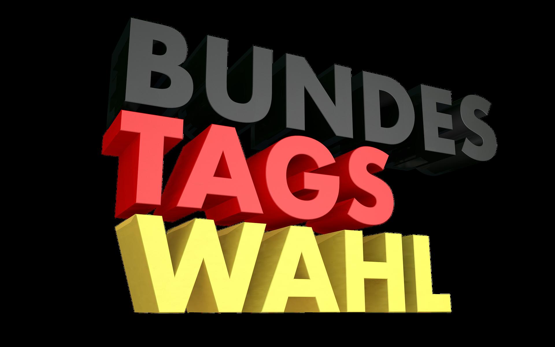 Schriftzug Bundestagswahl